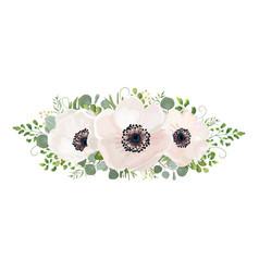 flower bouquet watercolor design element peach vector image vector image