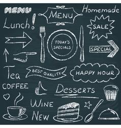Set of restaurant menu design elements vector image