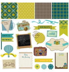 Travel Set of design elements vector image vector image
