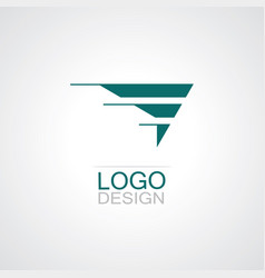 triangle wing company logo vector image vector image