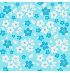 Background of seamless floral pattern vector image vector image
