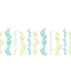 Blue green seaweed vines horizontal seamless vector image
