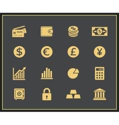 Financal icons set vector image