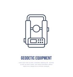 theodolite geological survey engineering vector image