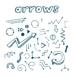vintage hand drawn arrows vector image vector image