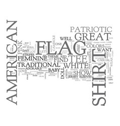 American flag history text word cloud concept vector