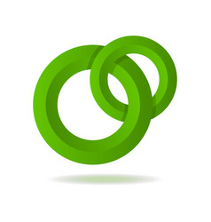 circle green abstract isolated element for logo vector image vector image