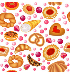 a seamless background of fruit baking vector image