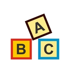 ABC blocks toy flat icon vector image