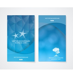 Abstract business cool blue banner set vector image