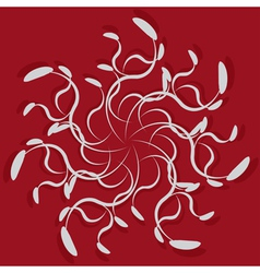 Abstract ornament on red background2 vector image
