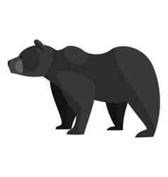 Bear icon black monochrome style vector