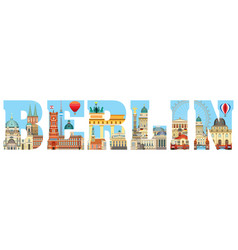 Berlin skyline 2 vector