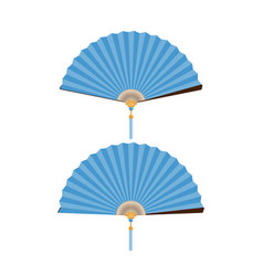 blue fan vector image