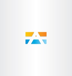 Blue orange letter a rectangle logo vector