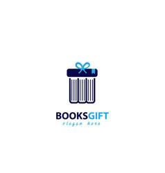 Books gift logo design vector