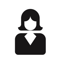 business woman icon femaleavatar symbol vector image