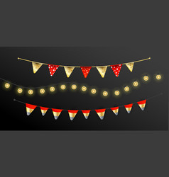 carnival christmas garland with flags garlands vector image