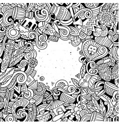 Cartoon cute doodles africa word sketchy vector