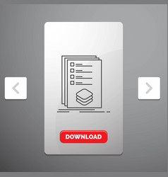 Categories check list listing mark line icon in vector