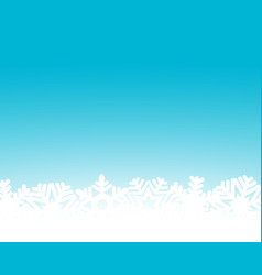 christmas blue background with snowflakes and vector image