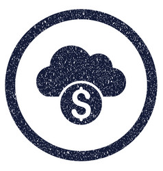 Cloud banking rounded grainy icon vector