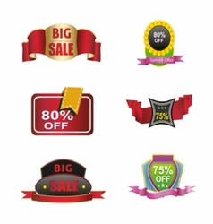 Colection-sales-off-discount-icon-logo- vector image