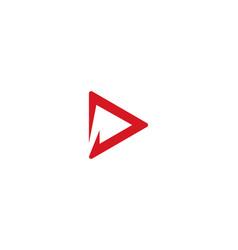 d letter logo business vector image