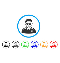 Deadly officer rounded icon vector