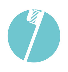 Dental toothbrush isolated icon vector