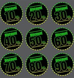 Discount icon vector