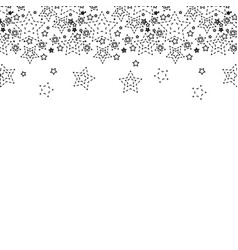 dotted shape stars christmas decoration backgroud vector image