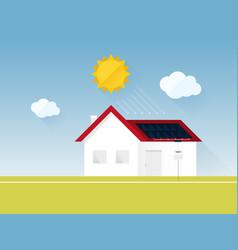 Electricity consumption sun energy house vector