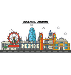 England london city skyline architecture vector