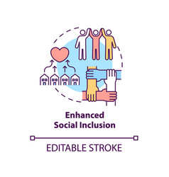 Enhanced social inclusion concept icon vector