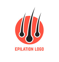 Epilation logo with hair root vector