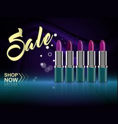 Fashion lipstick magazine ads vector