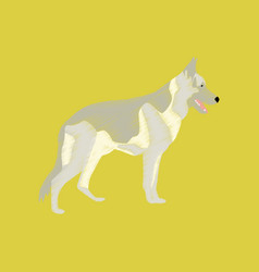 Flat shading style icon german shepherd vector