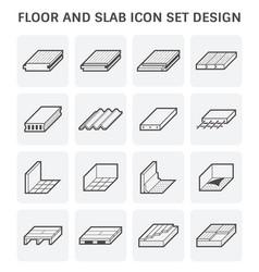 Floor slab icon vector