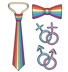 gay symbols vector image