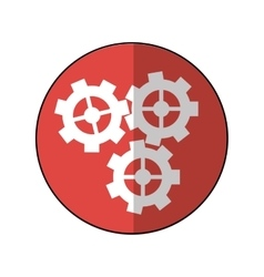 gear wheel engine cog icon pink shadow vector image