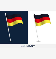 germany flag waving national flag germany vector image