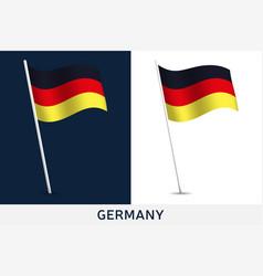 germany flag waving national flag vector image