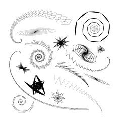 Graphical abstract a set of different swirls vector