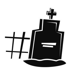 Grave icon simple style vector