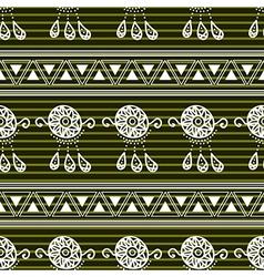 Green Dream Catcher Background vector image