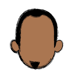 head man character profile people design vector image