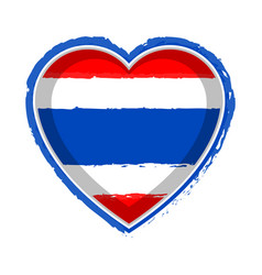 heart shaped flag of thailand vector image