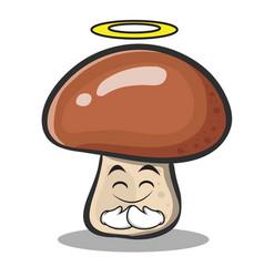 Innocent mushroom character cartoon vector
