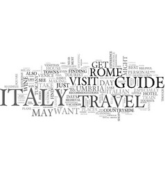 Italy travel guide text background word cloud vector